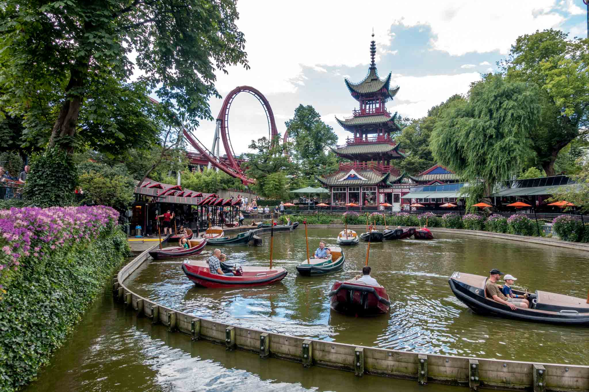 Boat ride at a theme park