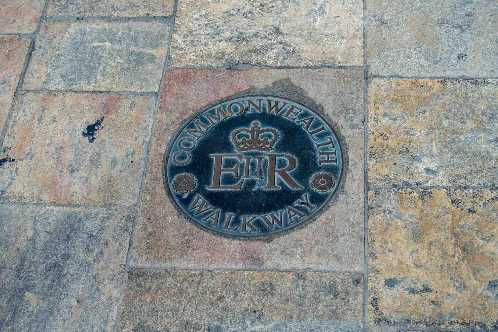 Queen Elizabeth II walkway medallion