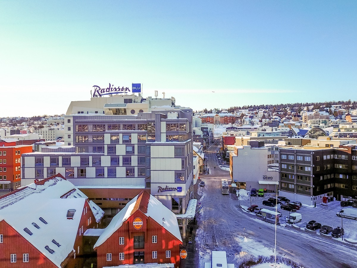 The Radisson Blue in downtown Tromso