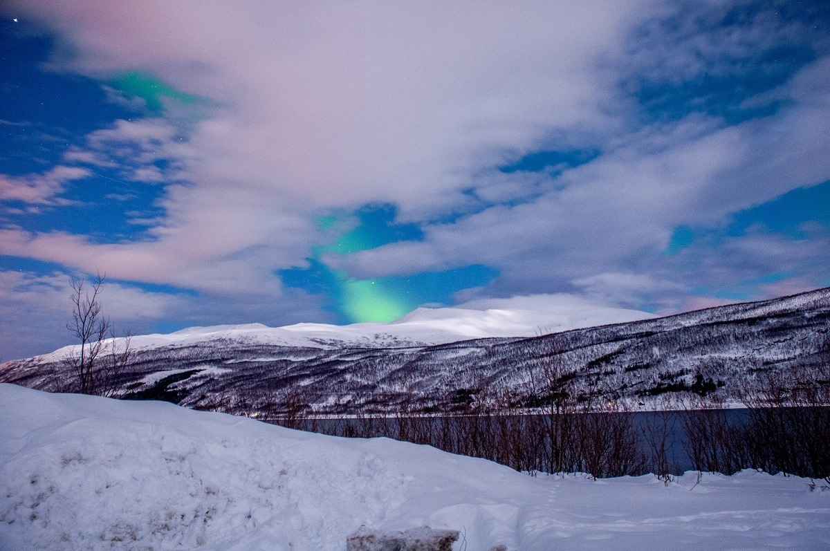 Some nights are so cloudy you can't see the Tromso Northern Lights