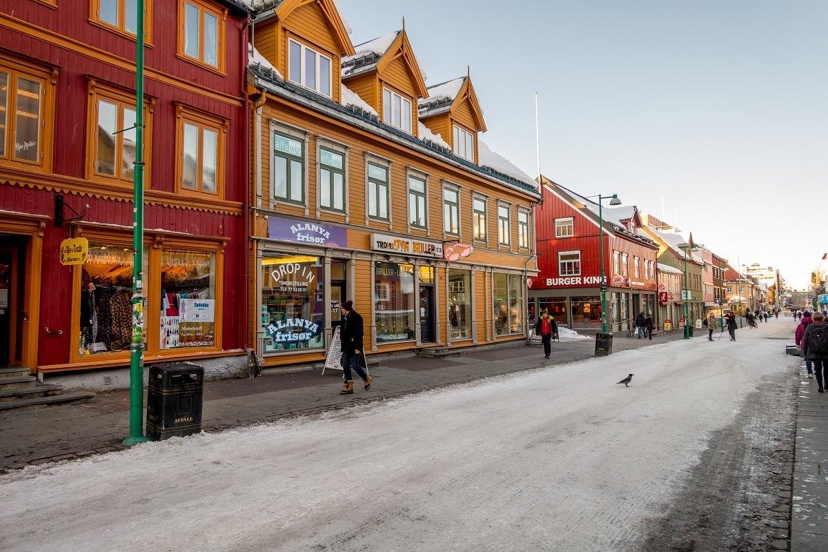 Main street in Tromso, Norway