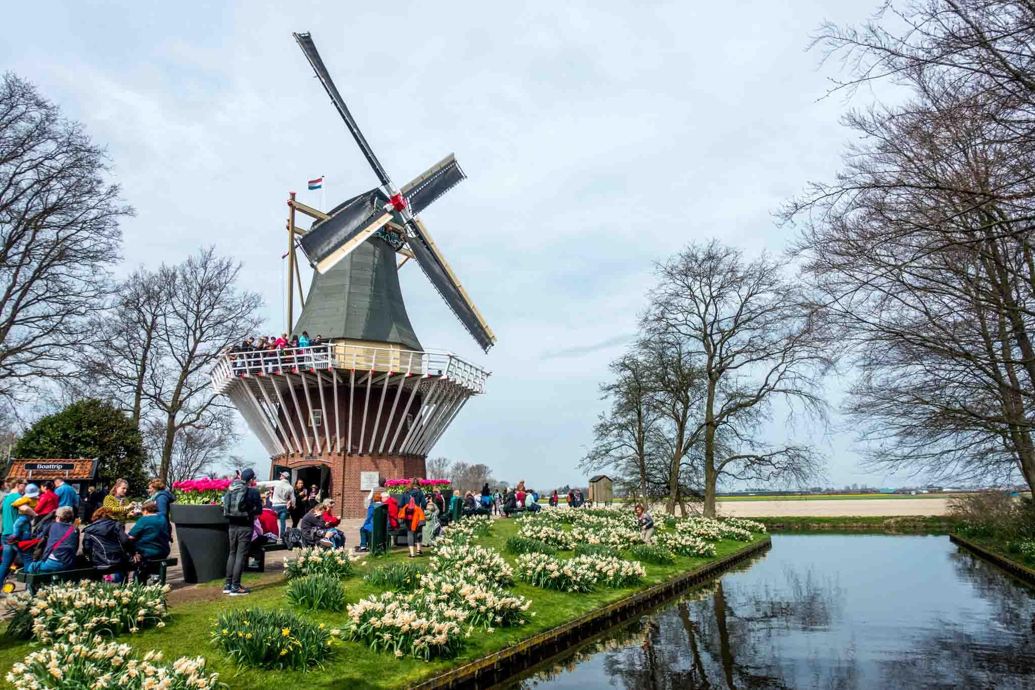 Windmill near canal