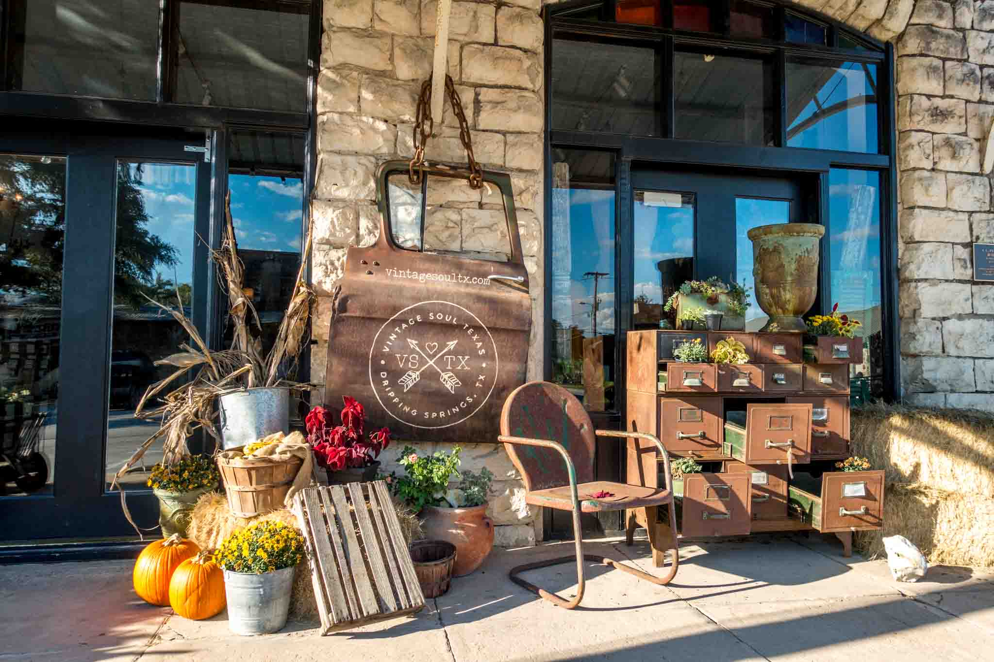 Merchandise displayed outside a boutique