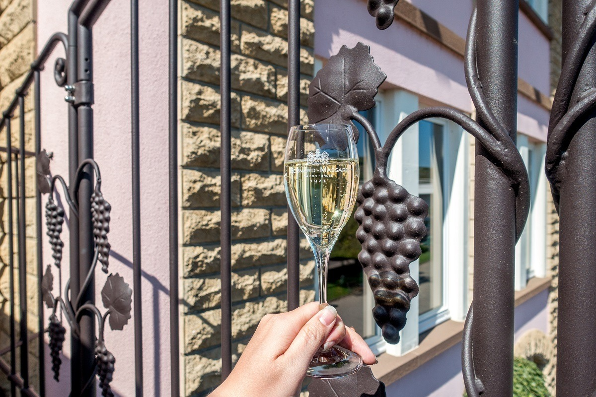 Glass of Cremant de Luxembourg