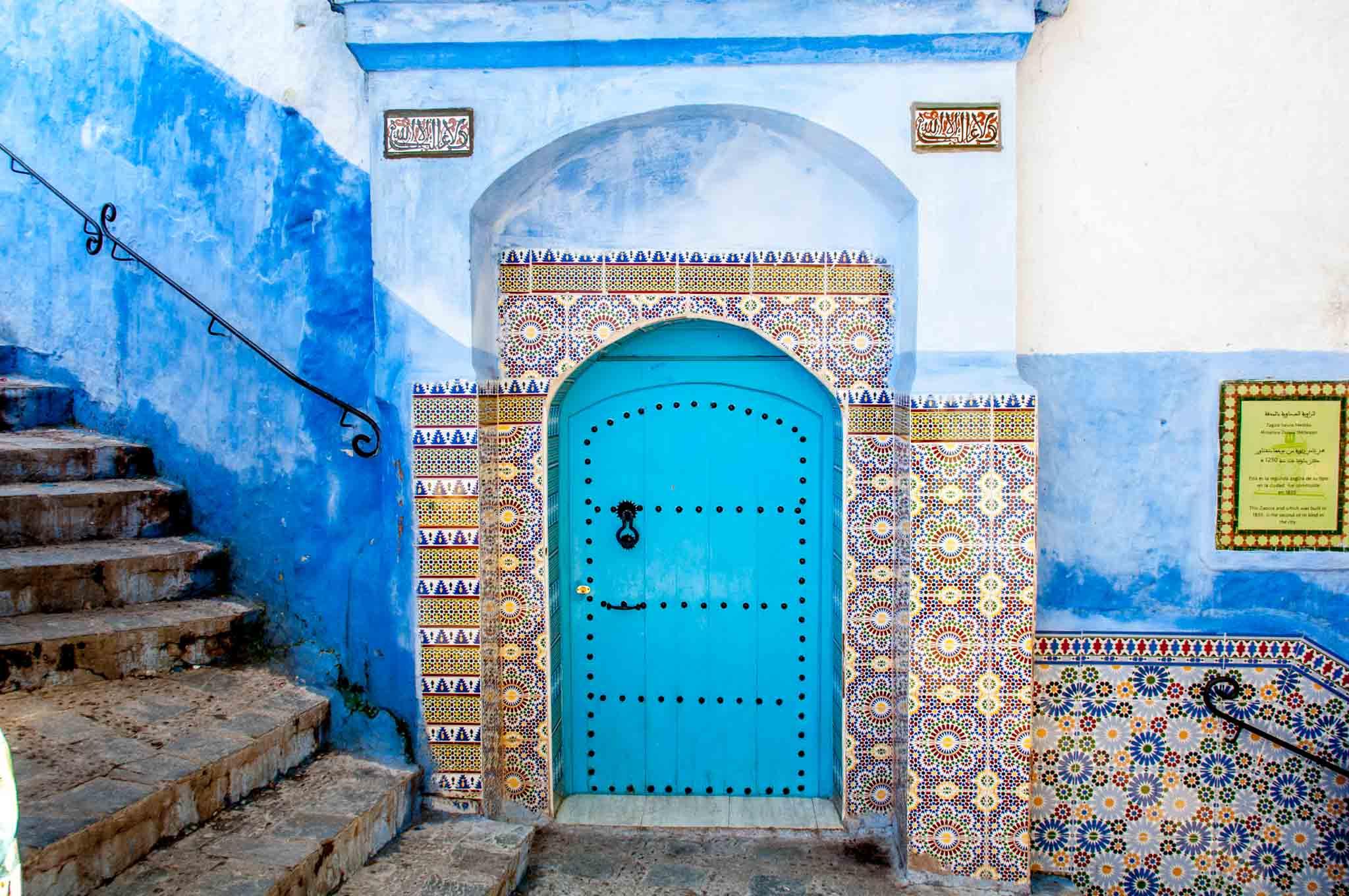 Doorway and decorative tilework