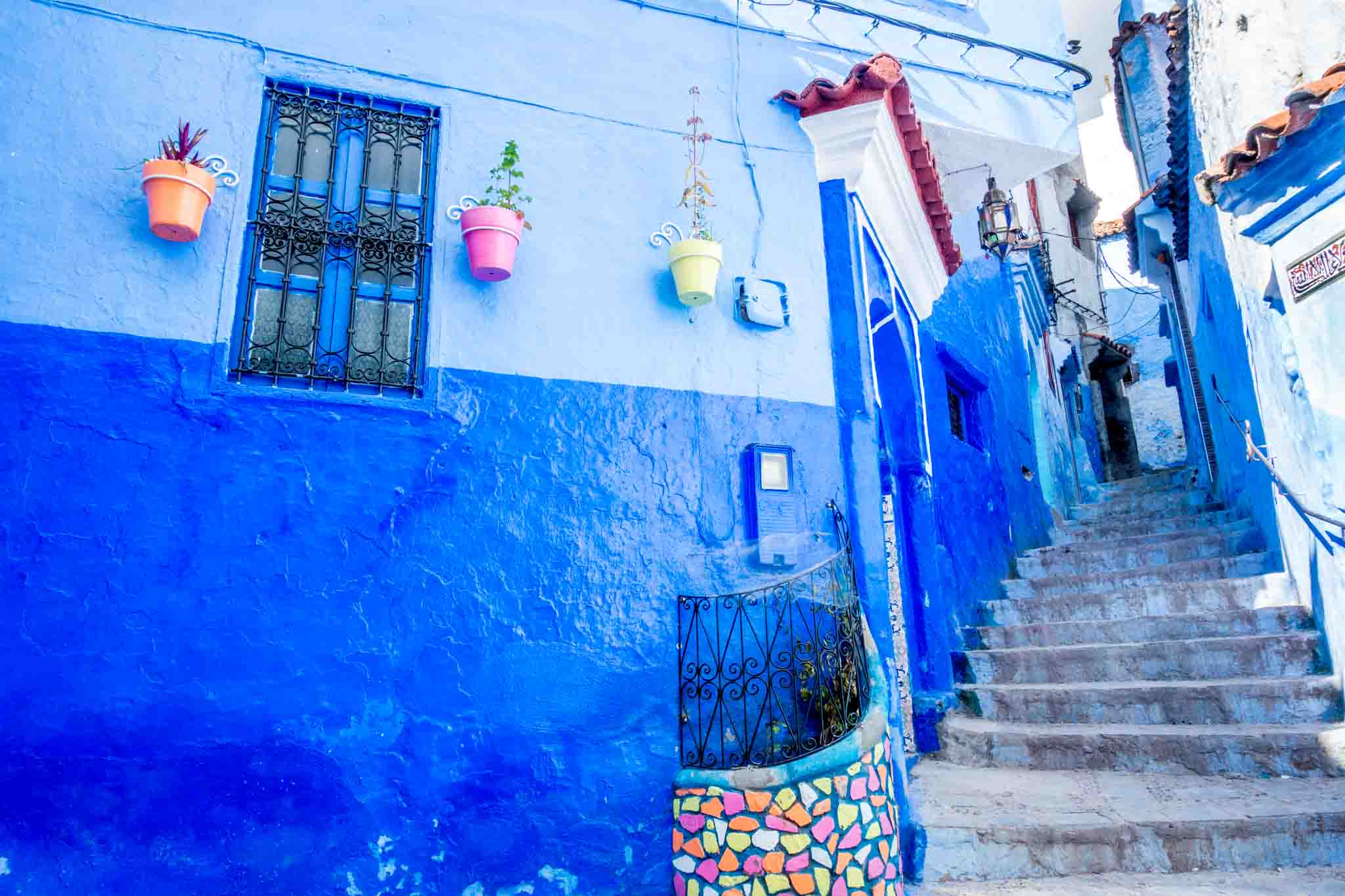 Staircase in Chaouen Morocco