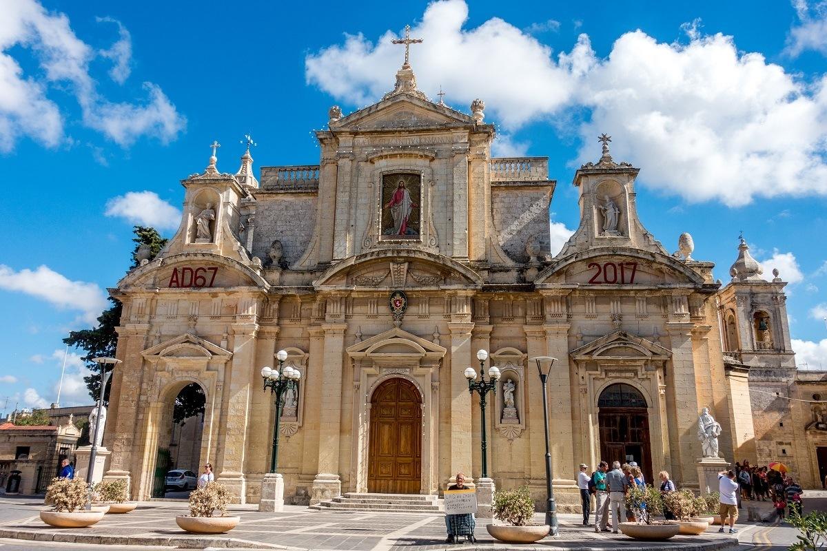 Exterior of the Collegiate Church of St. Paul in Rabat