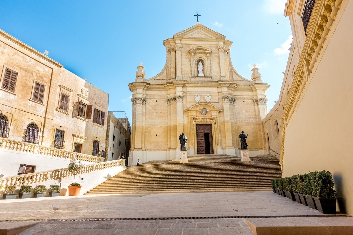 Church at the top of a staircase in Gozo