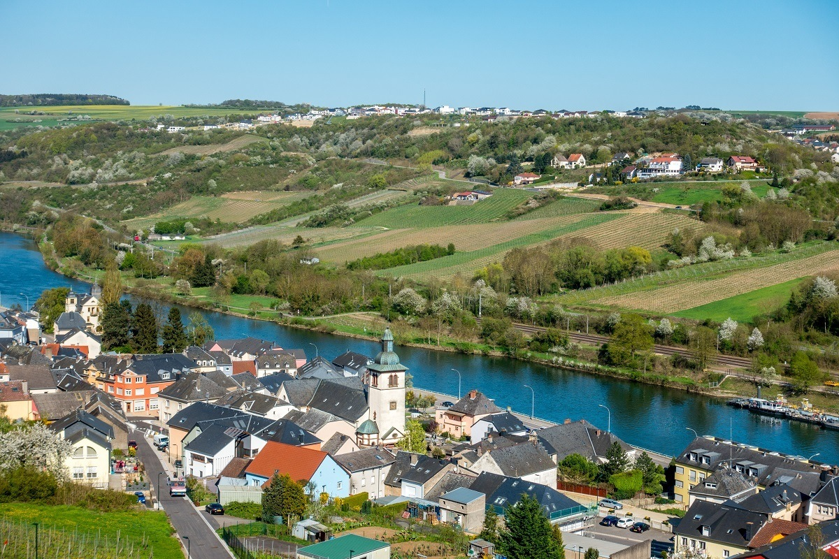 Town in the Moselle River valley