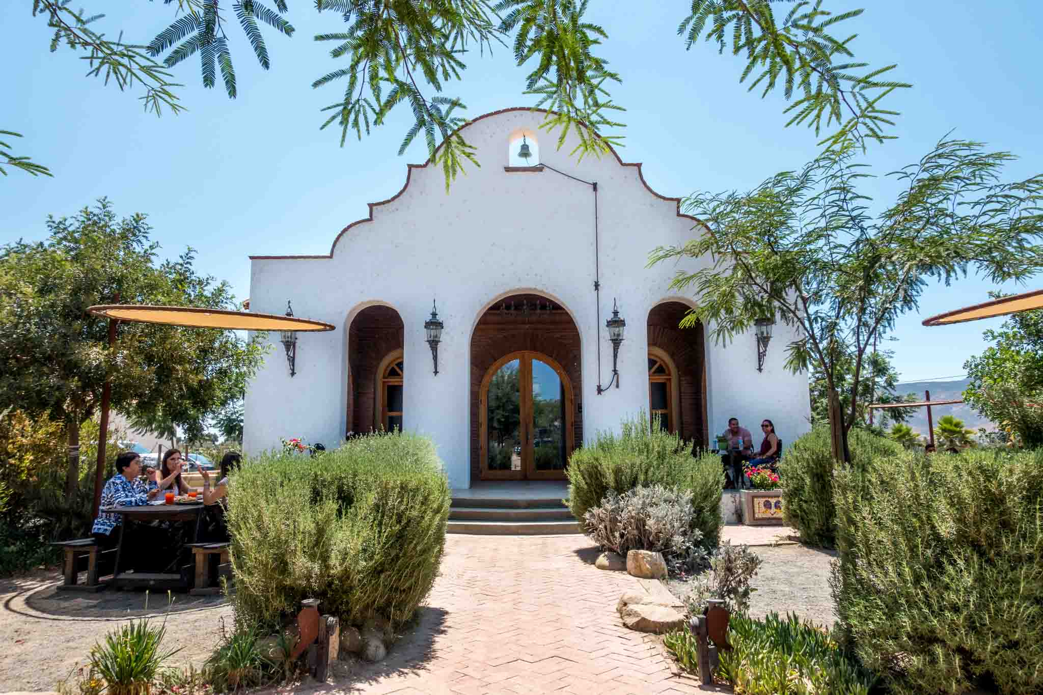 The unique architecture at the Adobe Guadalupe winery in Baja