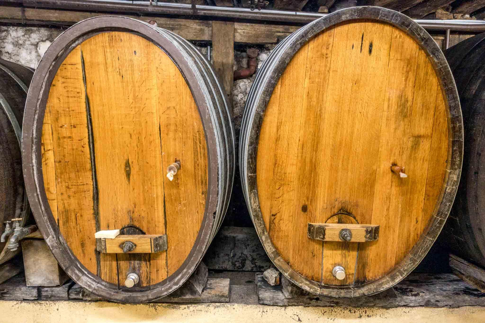 Wine barrels in Alsace