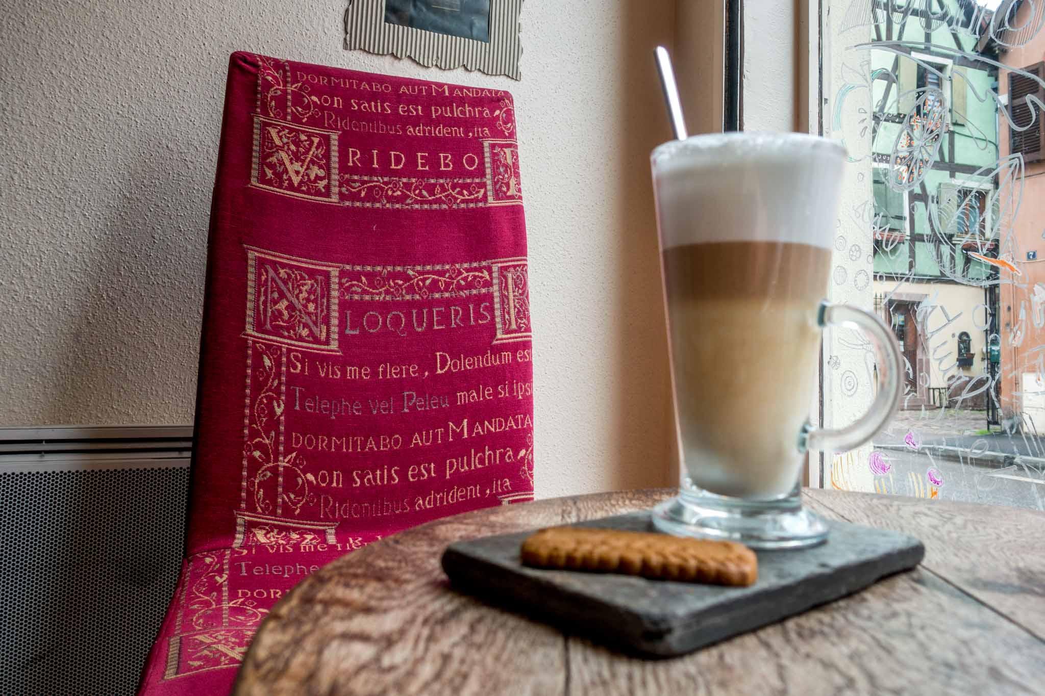 Mug of coffee and cookie