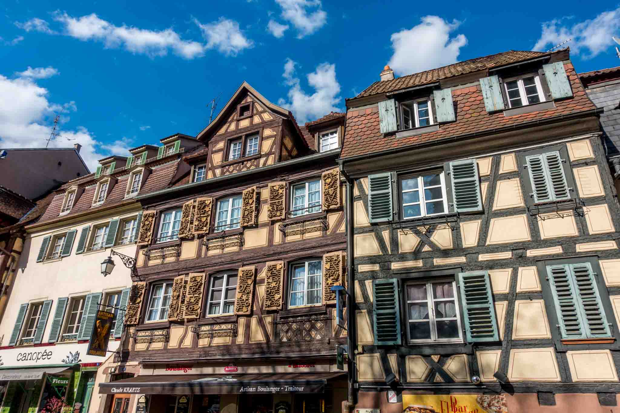 Half-timbered buildings in Colmar