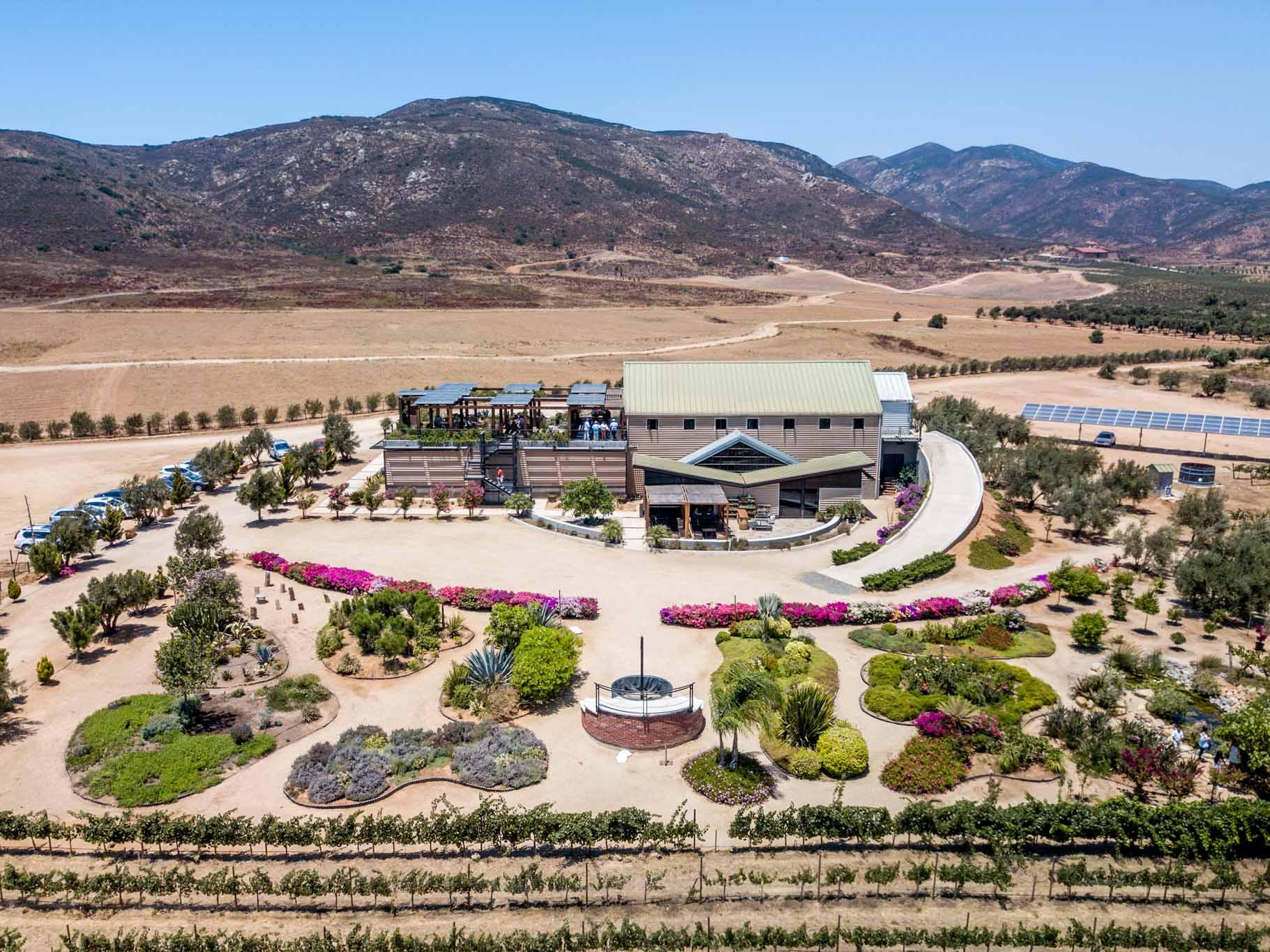 Aerial view of the Finca la Carrodilla Winery