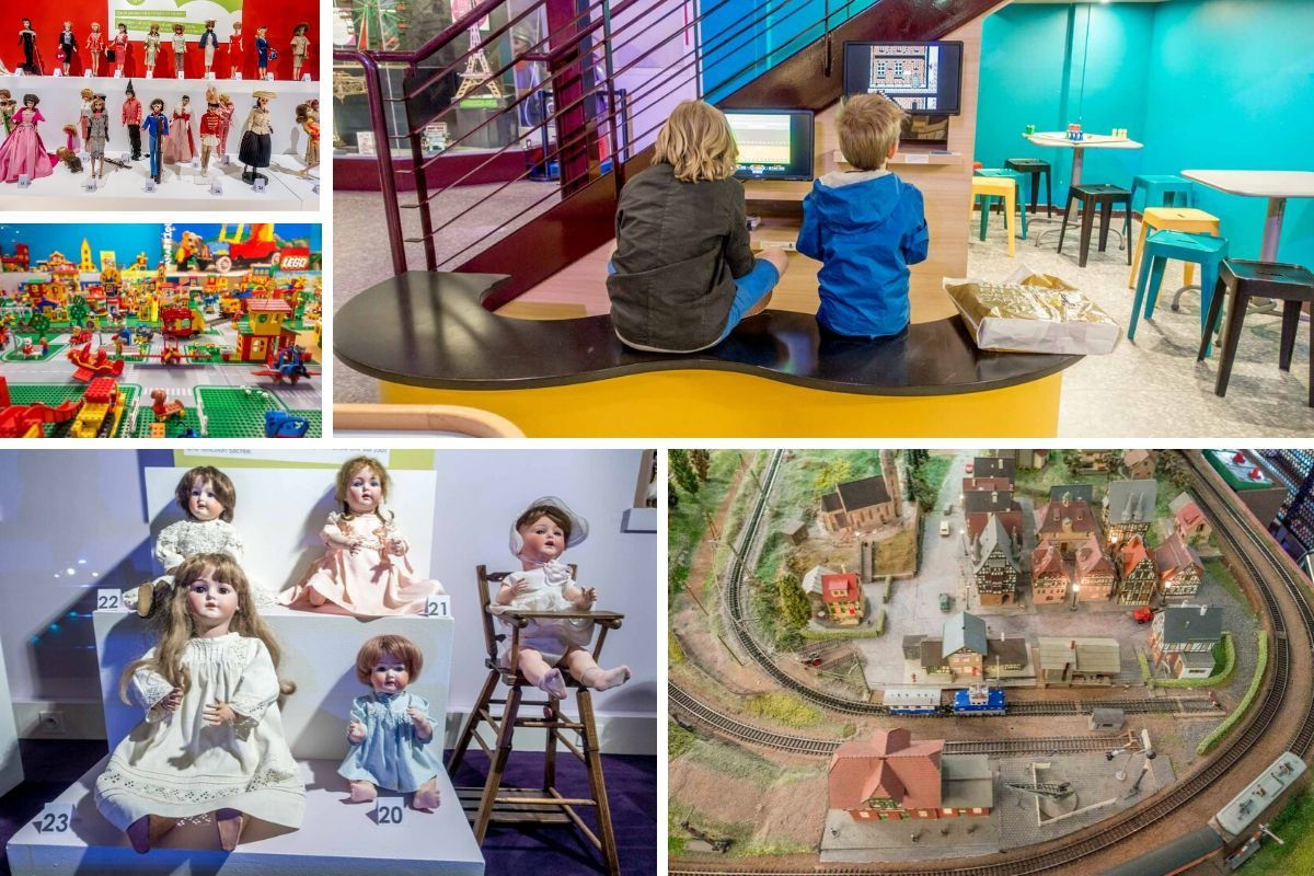 Toys, dolls, and train exhibits