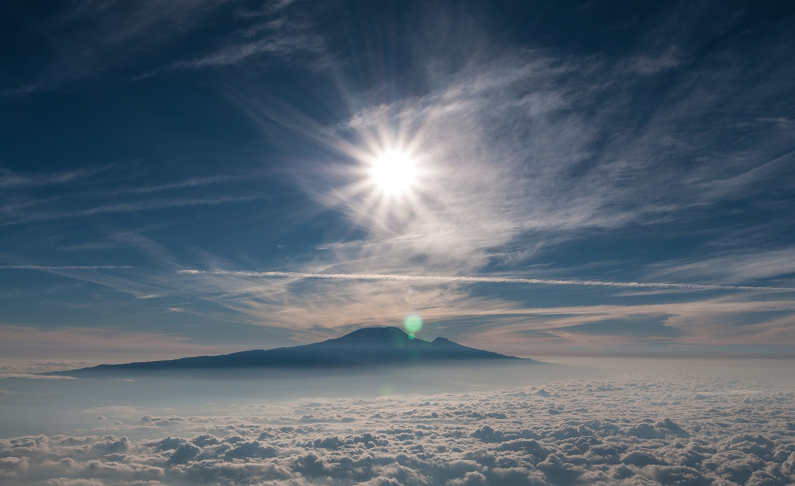 Mt. Kilimanjaro in Tanzania above the clouds