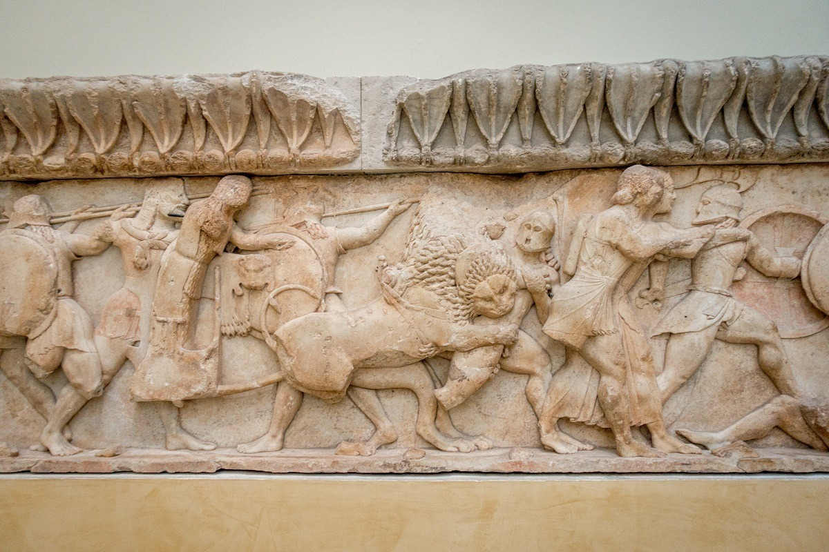 High relief or frieze from the Treasury of the Siphnians