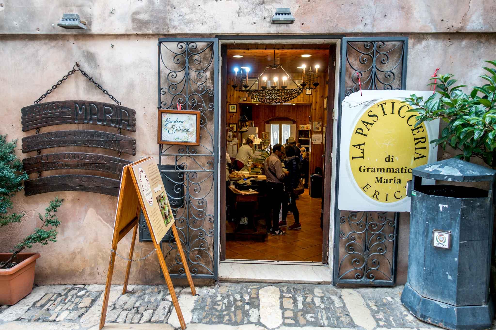 Exterior of Maria Grammatico pastry shop