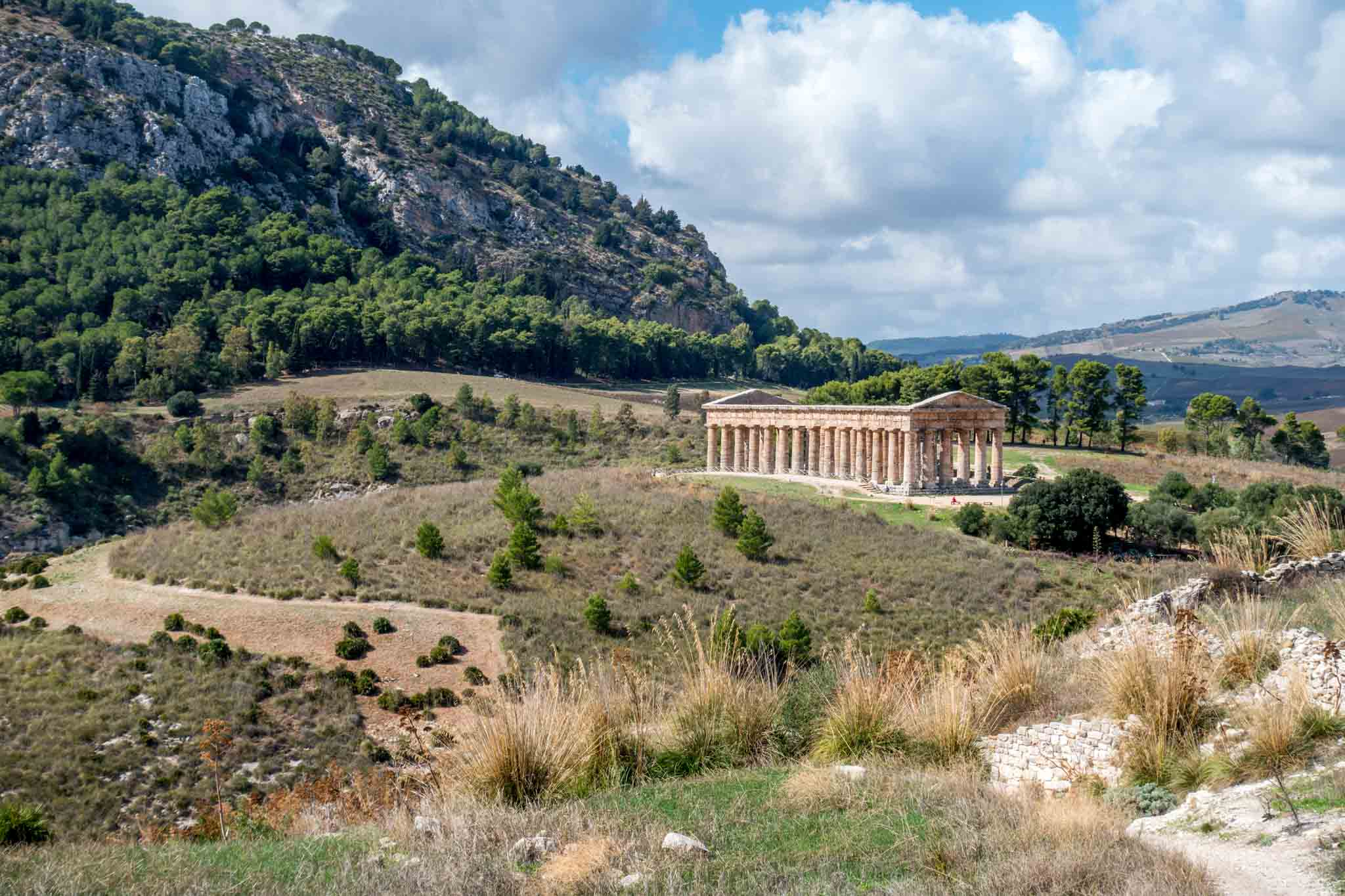 Doric temple in a valley