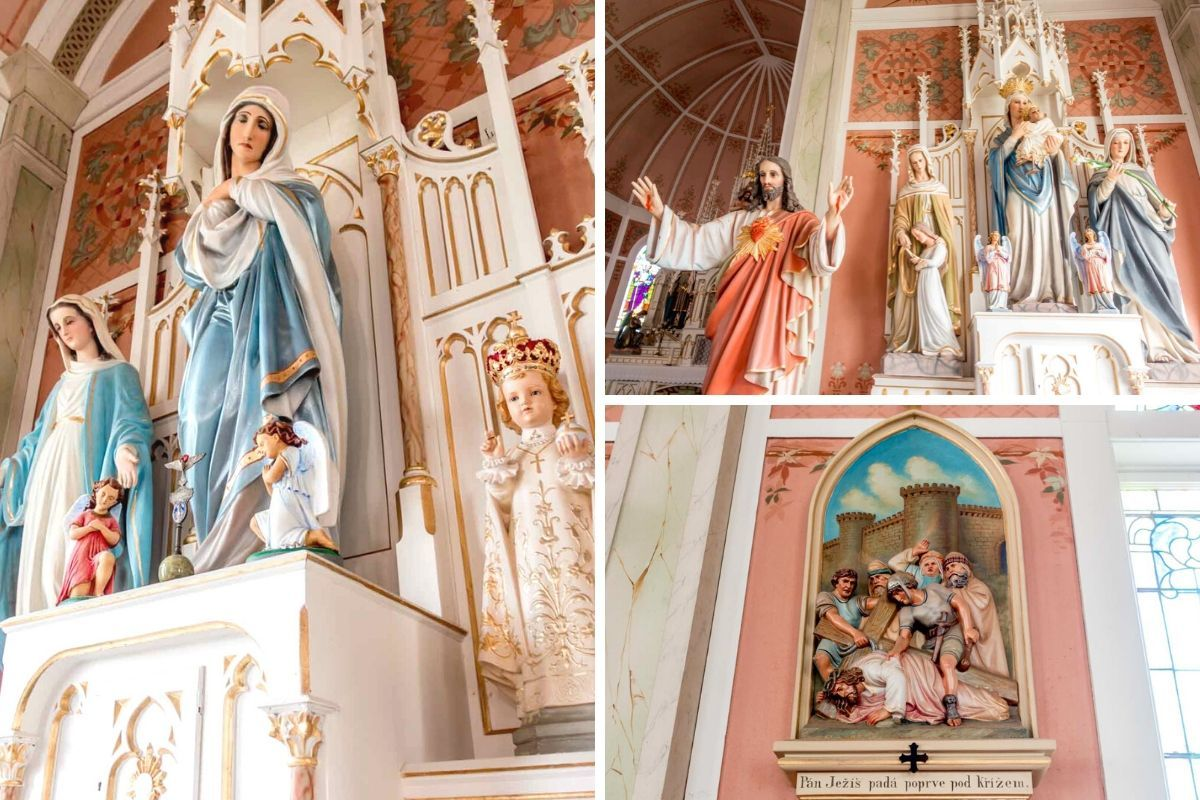 Religious statues and artwork