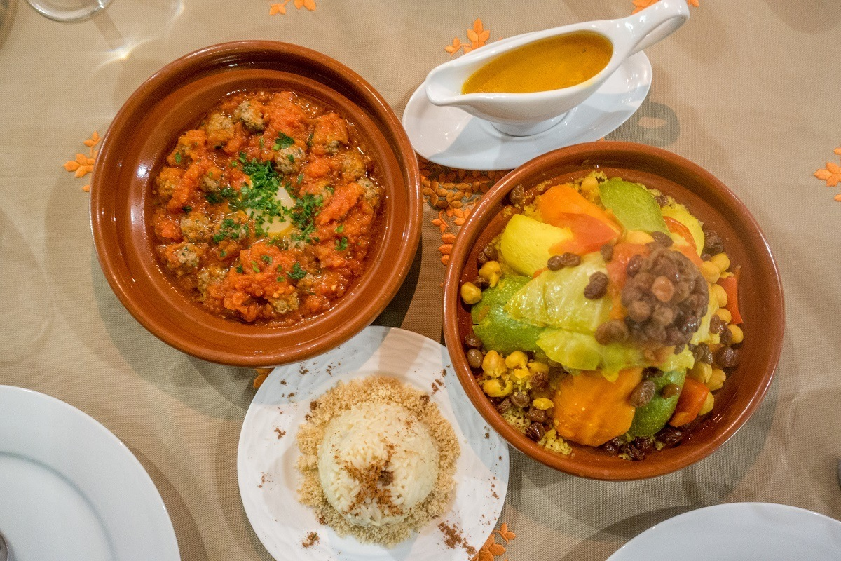 Tagine and traditional Moroccan food