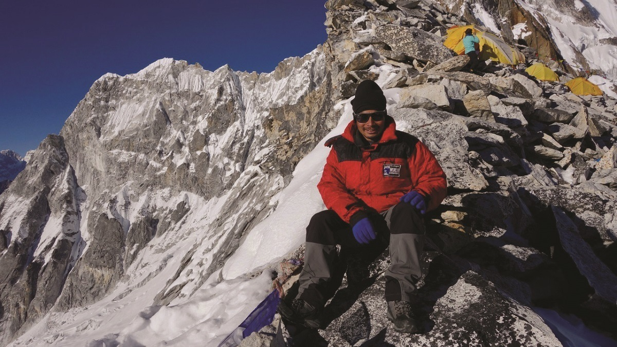 One of the Nepal Sherpas on mountain