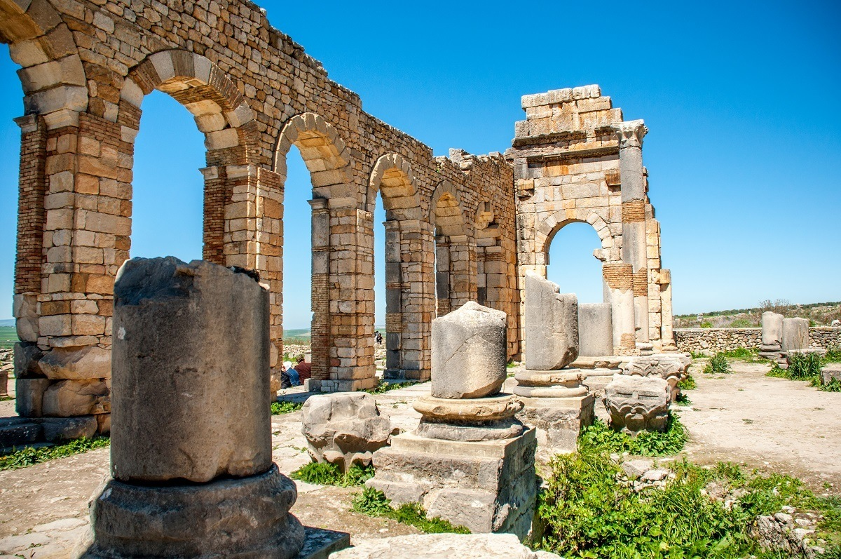Ruins of an ancient Roman building