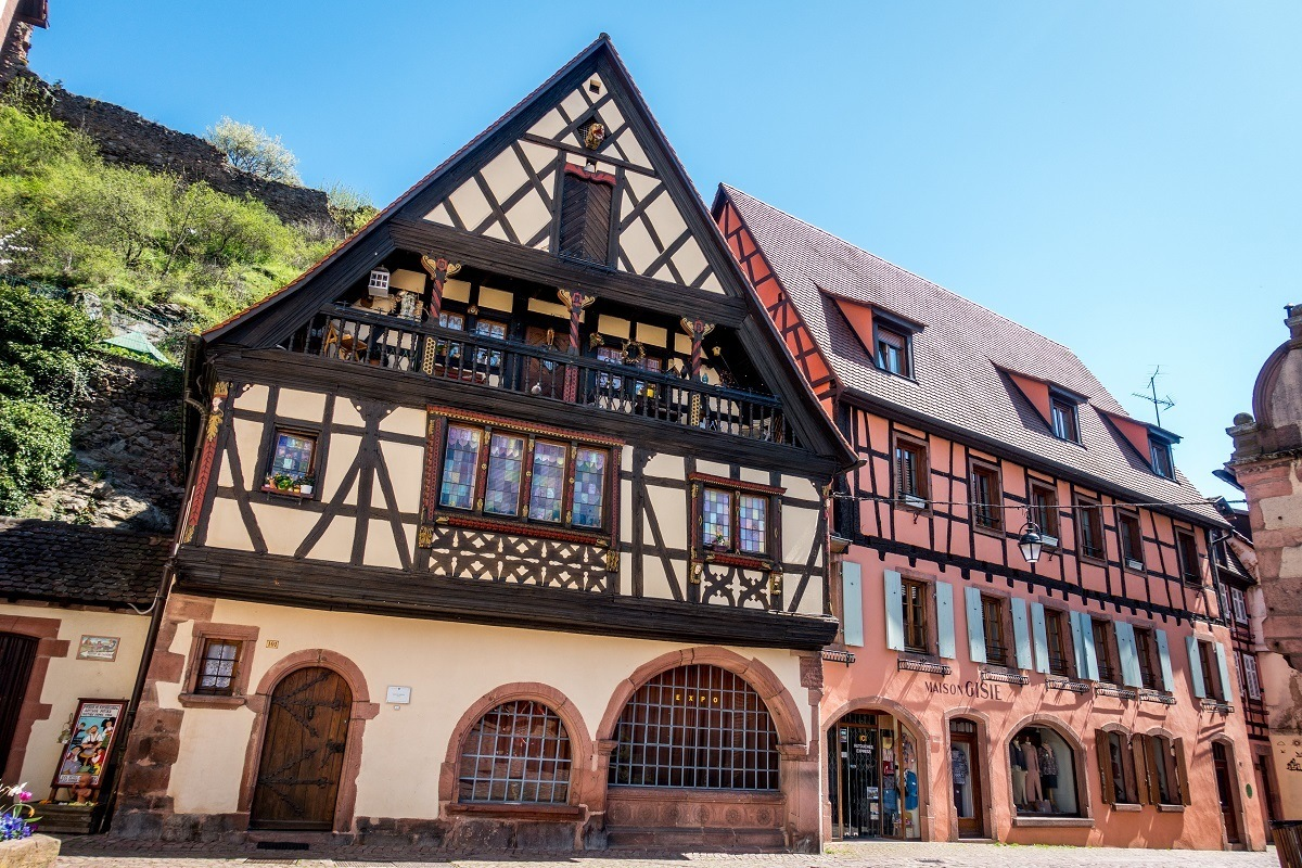 Maison Herzer is one of the oldest buildings in Kaysersberg, France,