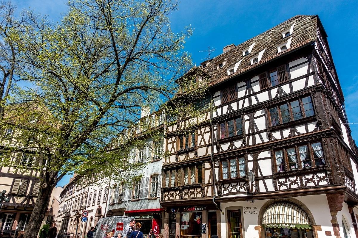 Half-timbered buildings in Strasbourg