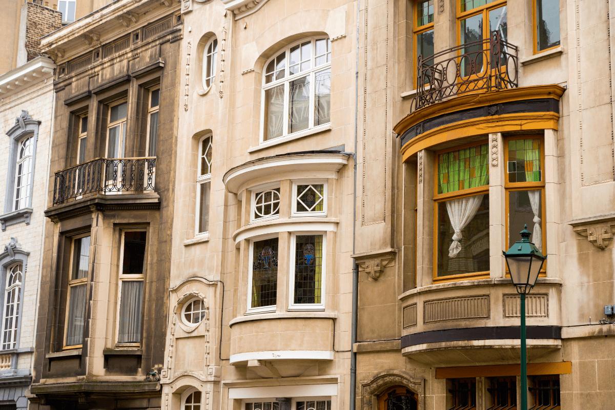 Art Nouveau-style windows