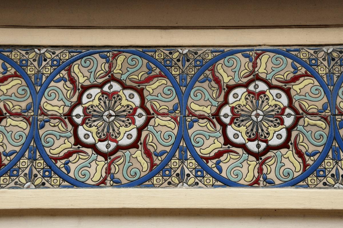 Decorative Art Nouveau tiles