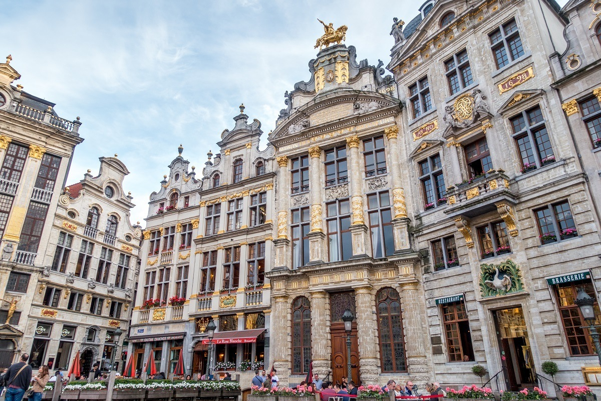 Ornate merchant houses in Brussels city center