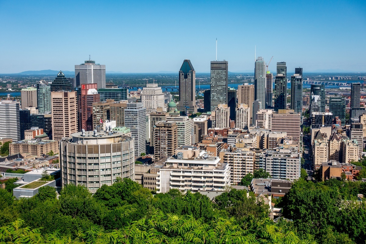 Skyscrapers in downtown Montreal