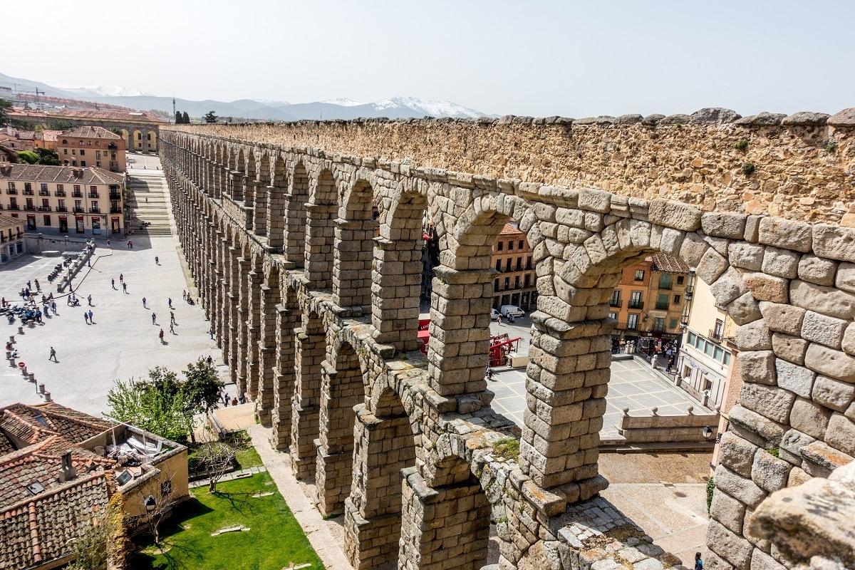 Large stone aqueduct