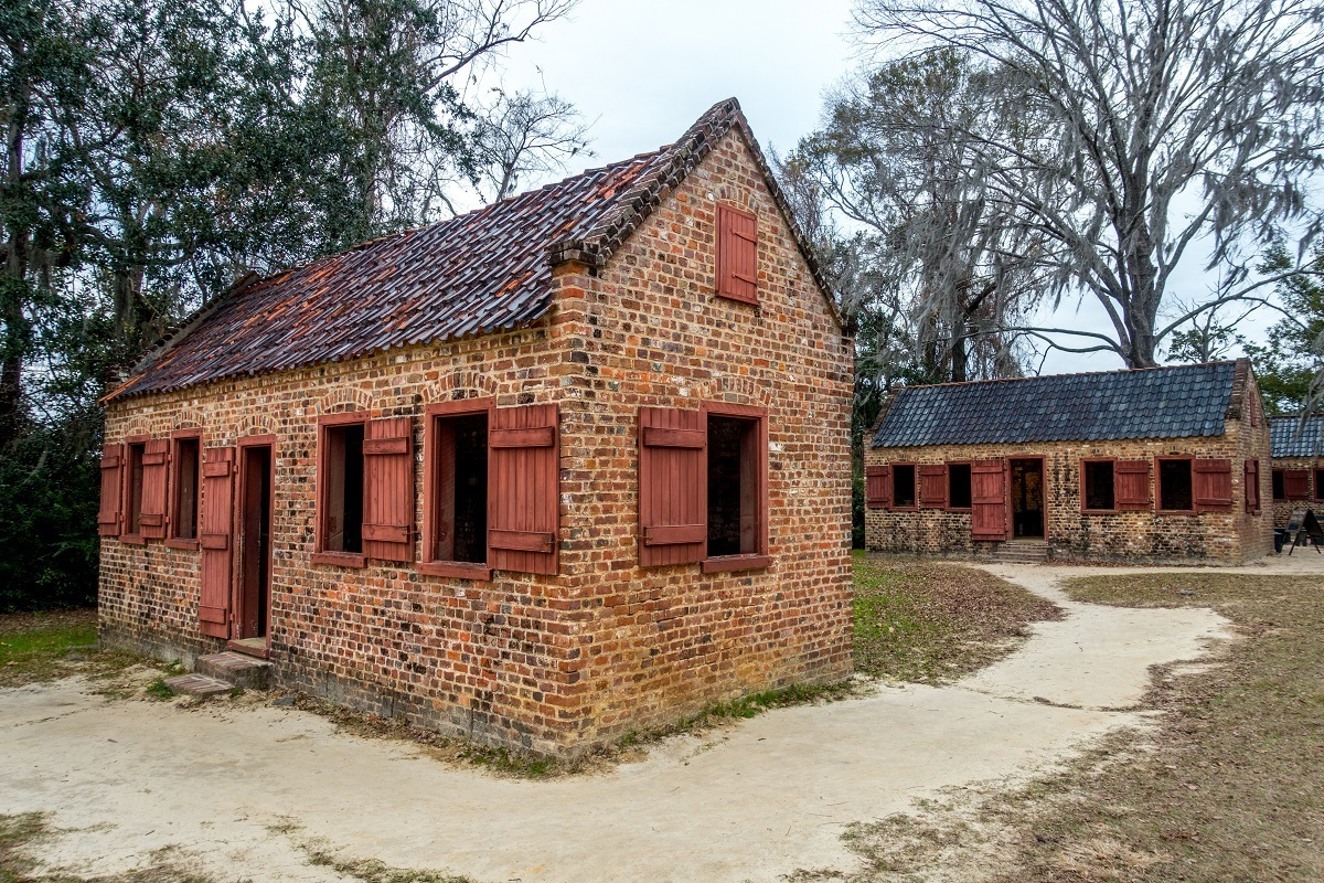 Old brick cabins