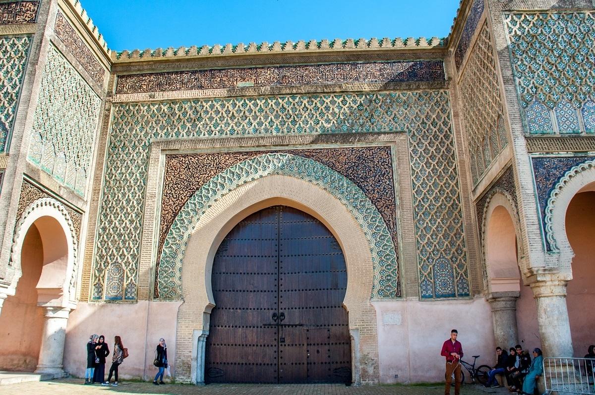 Massive wooden door at a city gate