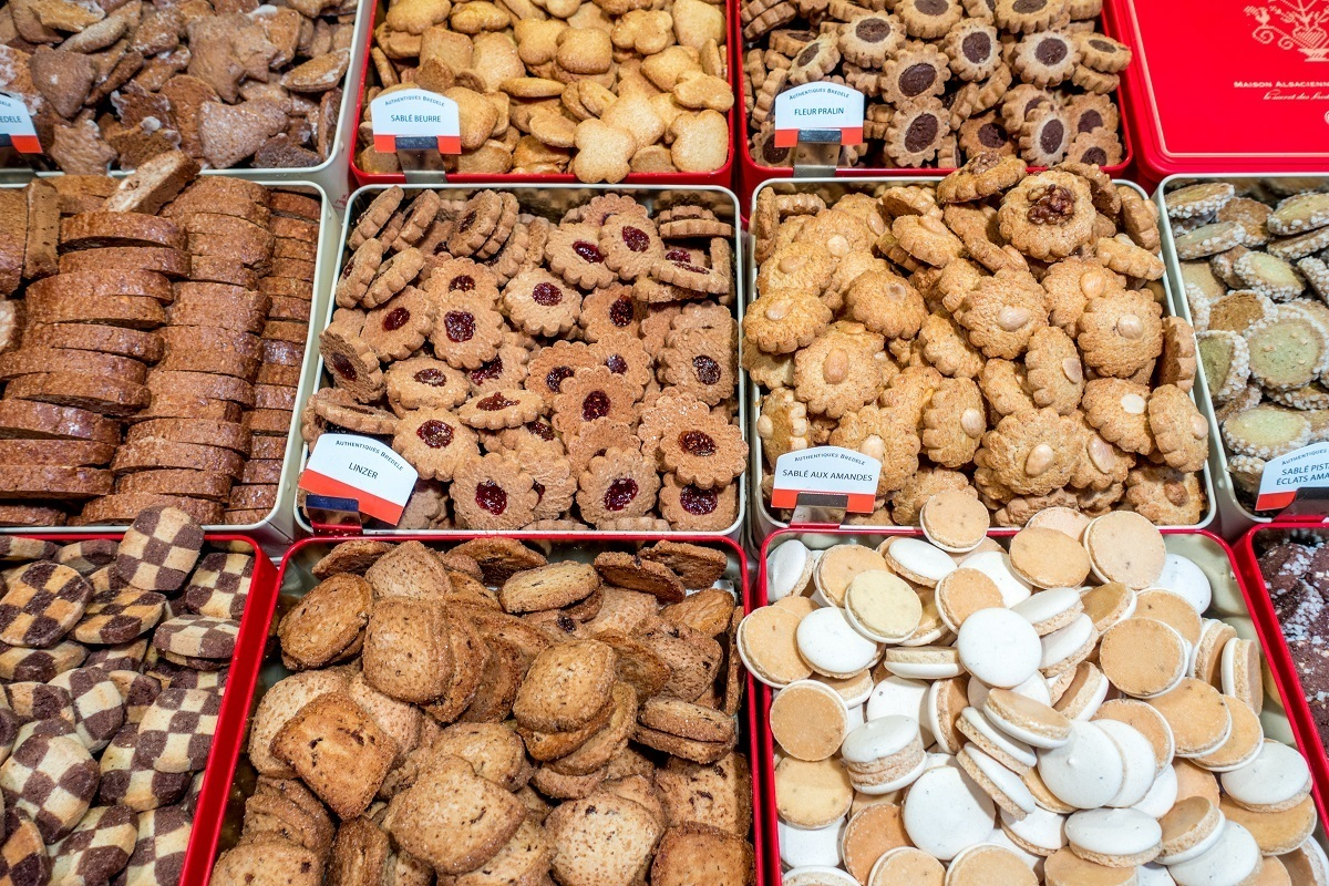 Selection of bredele, traditional Christmas cookies
