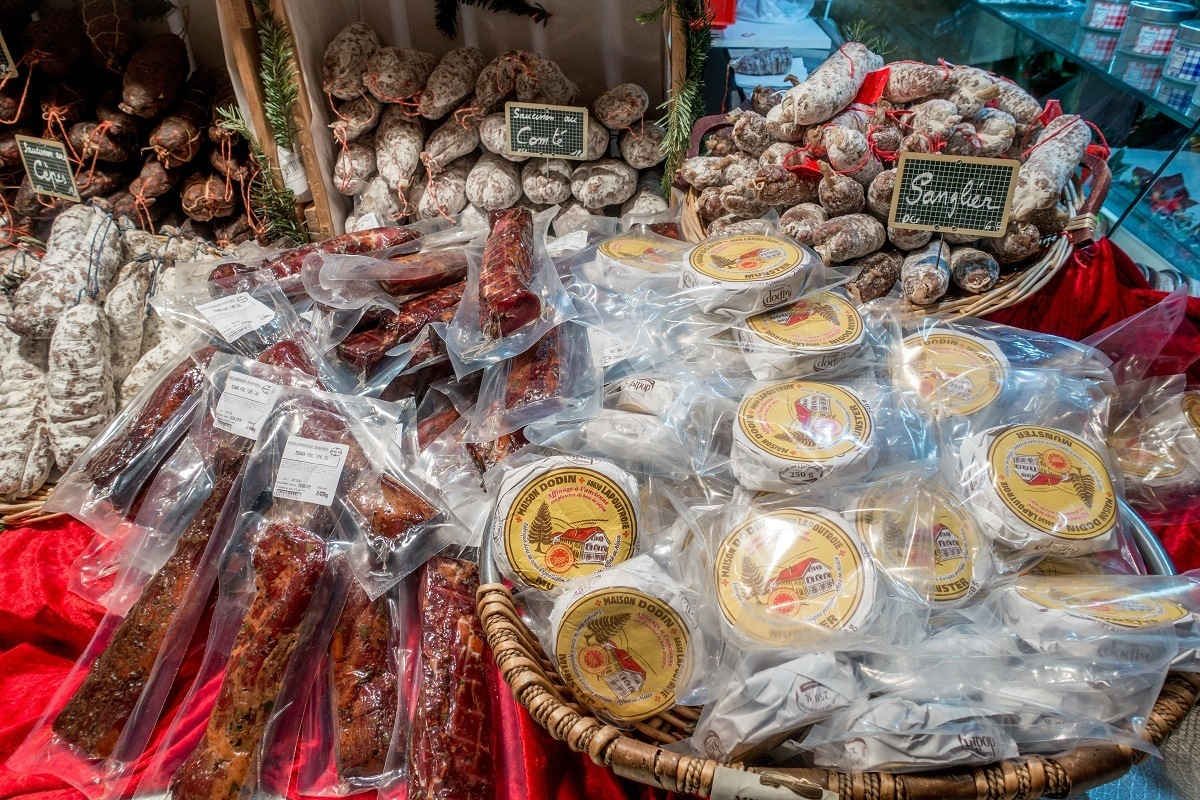 Sausage and cheese for sale