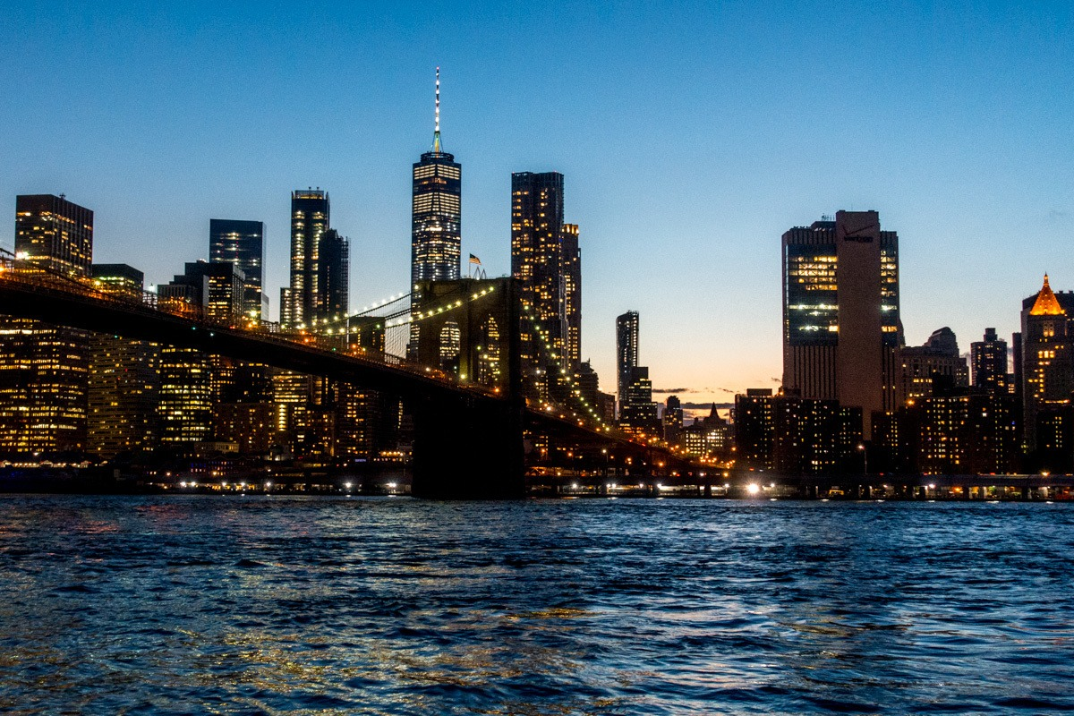 Skyline of New York City from Brooklyn - the perfect weekend getaway!