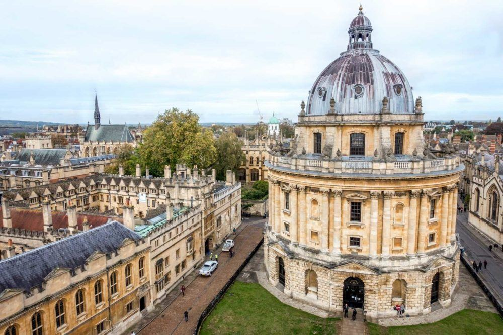 Seeing Radcliffe Camera from St. Mary's tower is one of the top Oxford sights