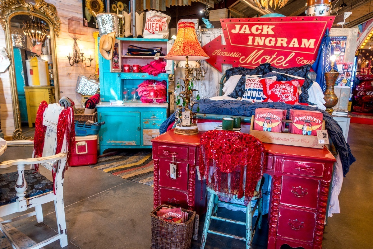 Store interior with home goods for sale