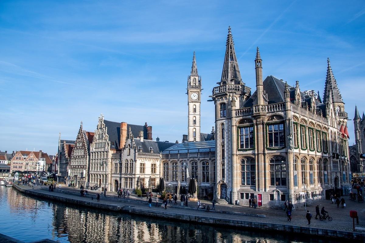 Renaissance buildings along the river