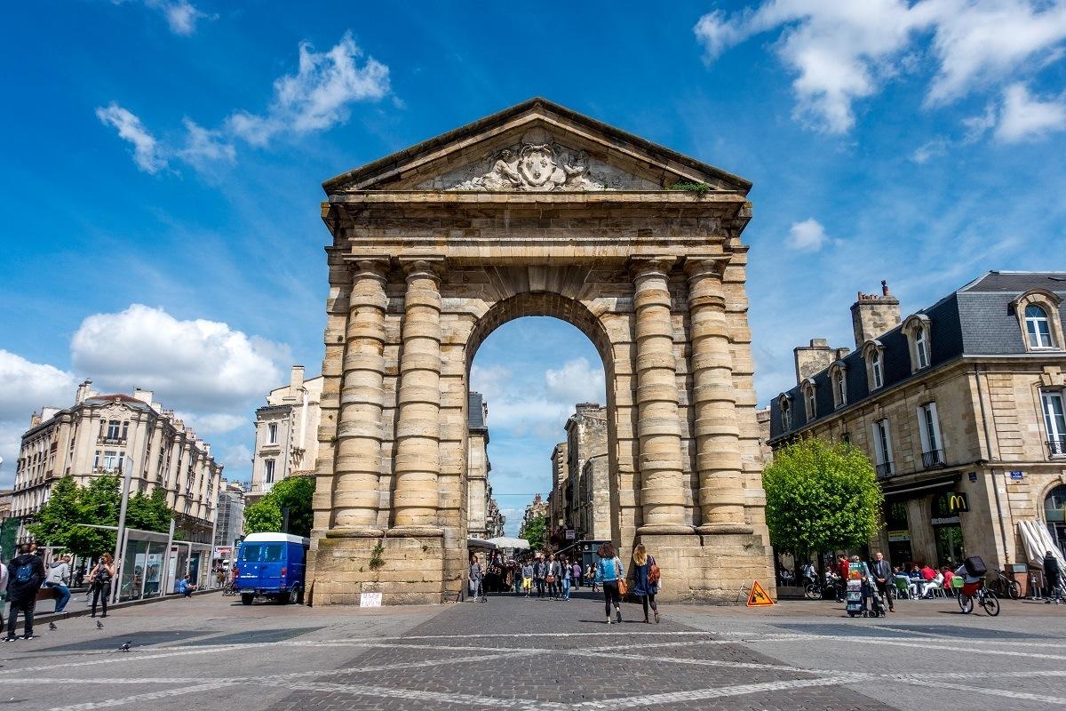 Porte d'Aquitaine gate in Bordeaux France