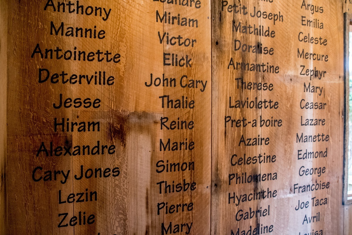 Names written on wall