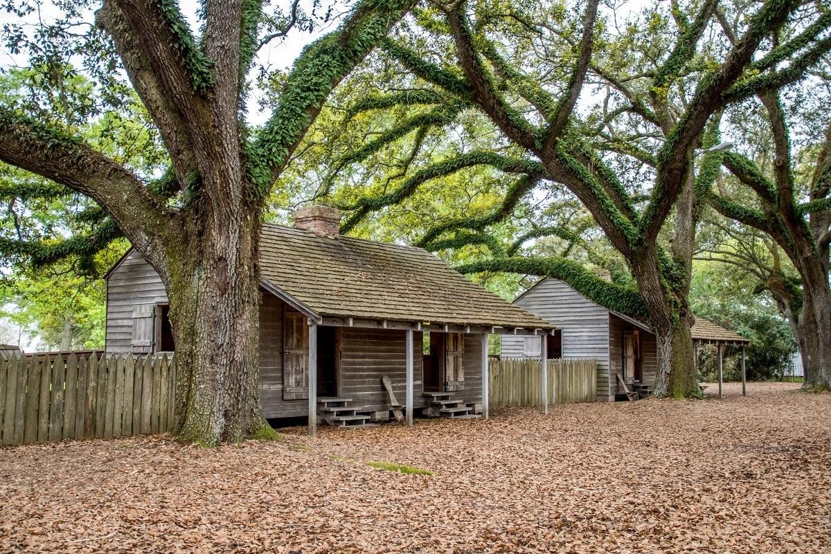 Former slave cabin under trees