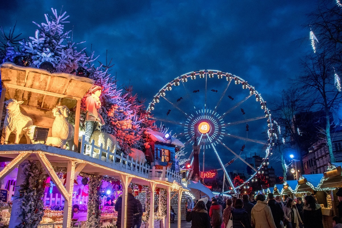 The Christmas market in Brussels