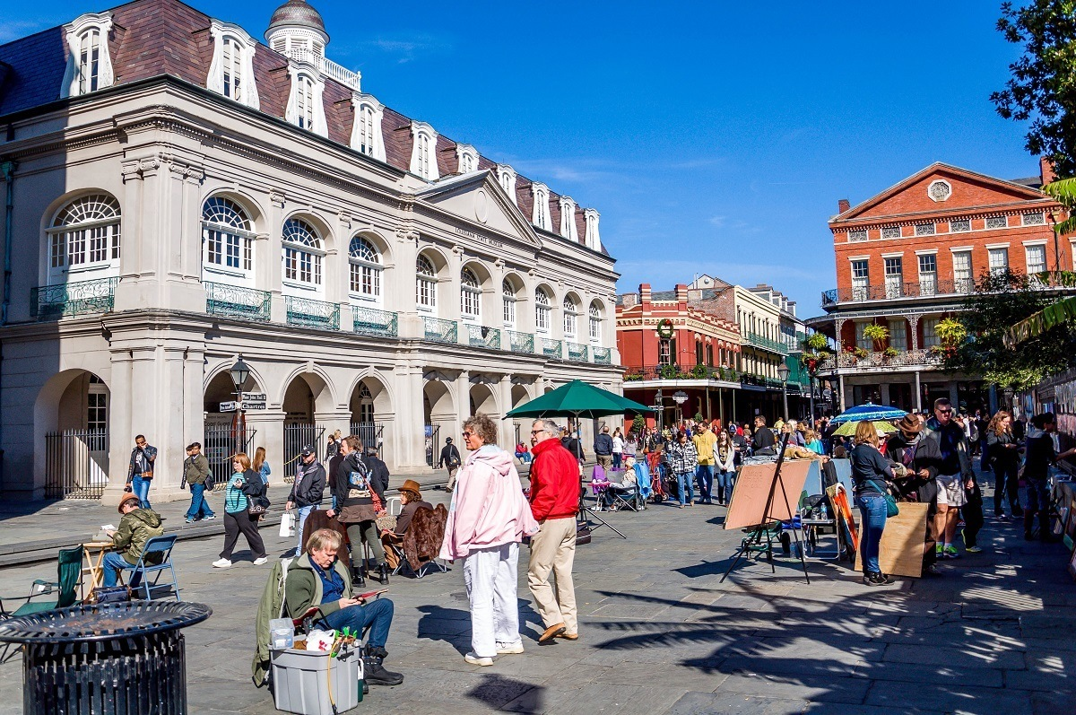 People in Jackson Square