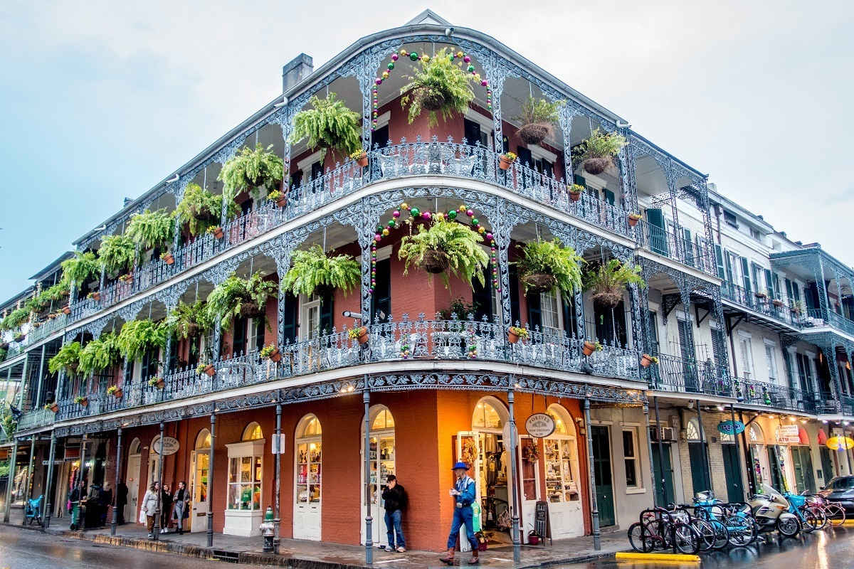 Wrought-iron balconies in New Orleans, a great weekend getaway