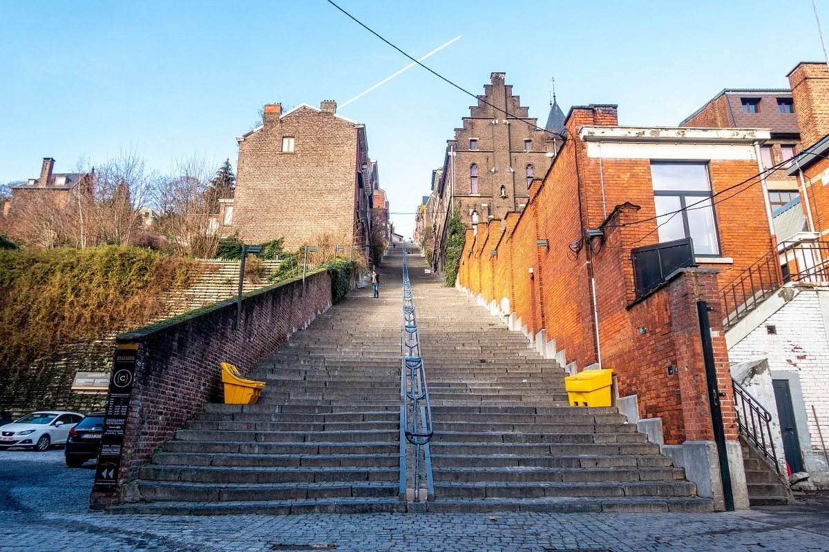 374-step staircase in the city center