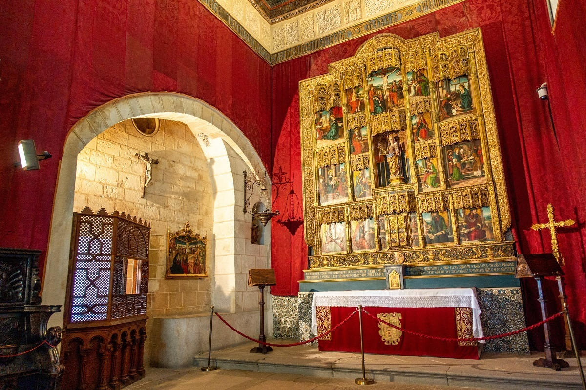 Chapel with gold altar